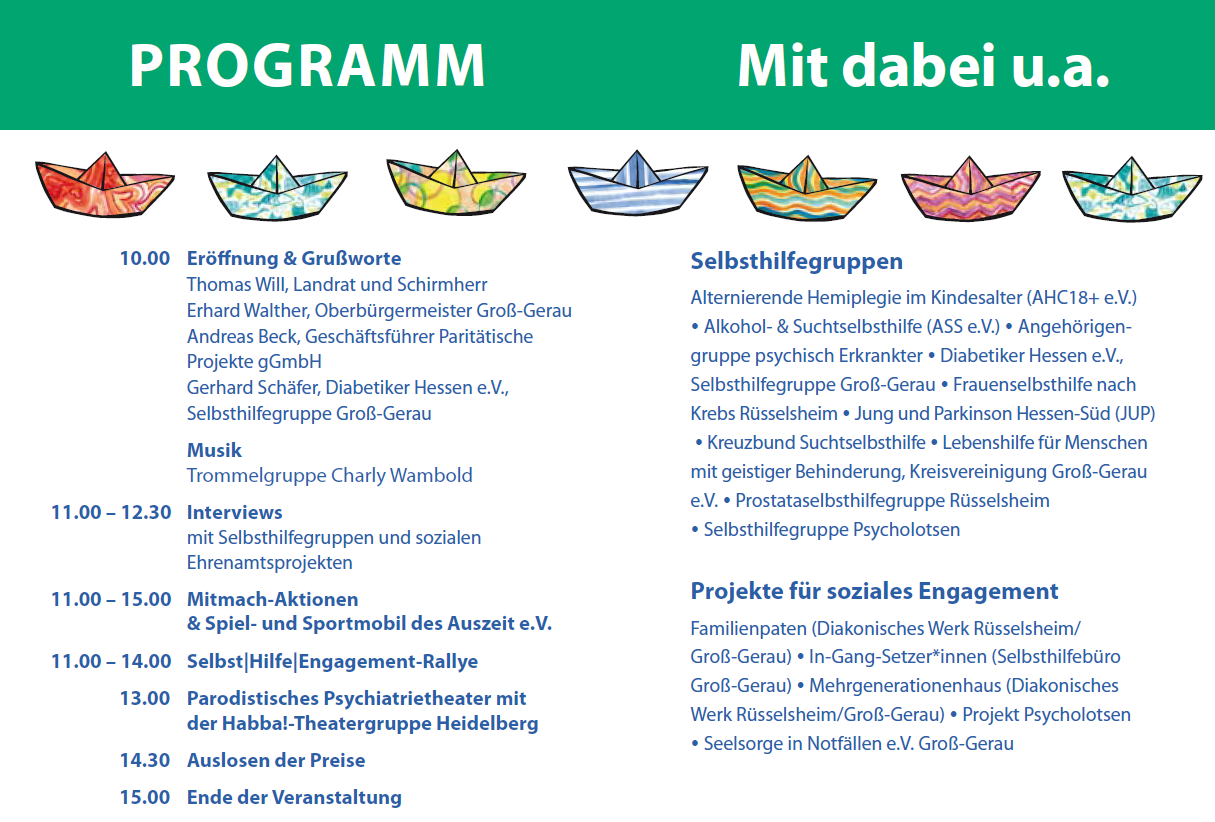 Programm Selbst-Hilfe-Engagement-Tag